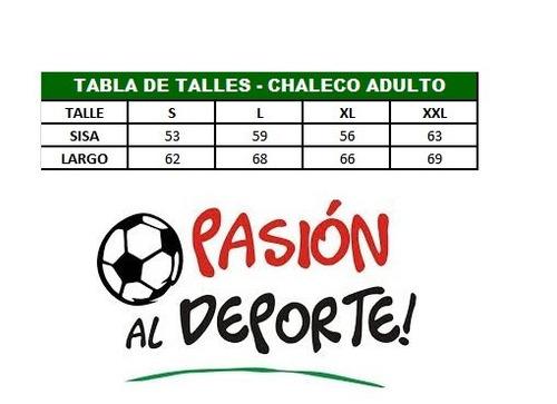 chaleco san lorenzo oficial adulto - 1830 solo talle s!!!