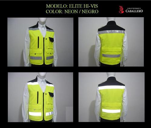 chaleco seguridad reflejante elite alta visibilidad