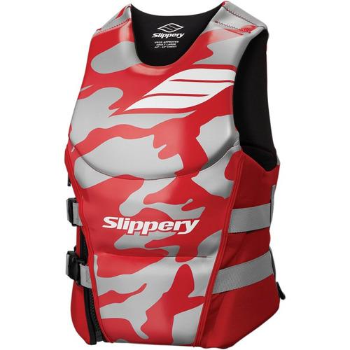 chaleco slippery array apertura lateral rojo sm