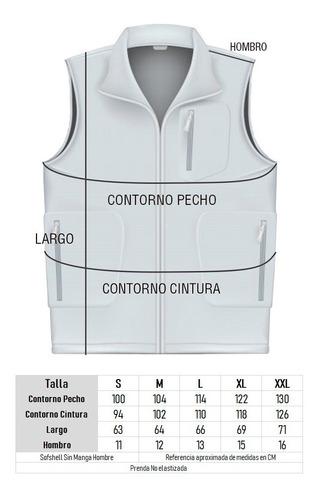 chaleco softshell & micropolar corporativo s/mangas hombre