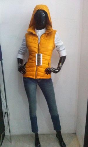 chaleco sport dama mostaza bomber