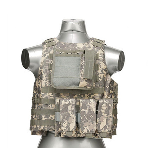 chaleco táctico militar airsoft paintball acu camouflage