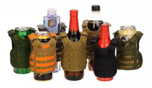 chaleco táctico militar decoración de botellas latas cerveza
