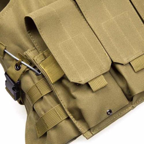 chaleco táctico militar molle airsoft gotcha policía caza seguridad multiusos