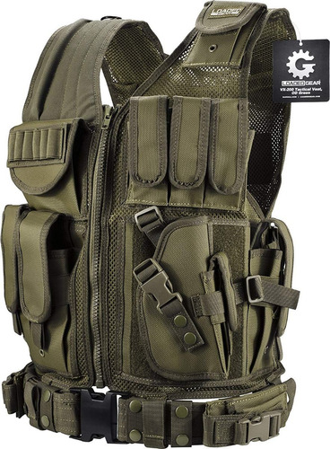 chaleco tactico militar molle comando airsoft paintball