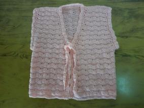 c7afc99b3 Chaleco Tejido Al Crochet Para Nena De 4 Años