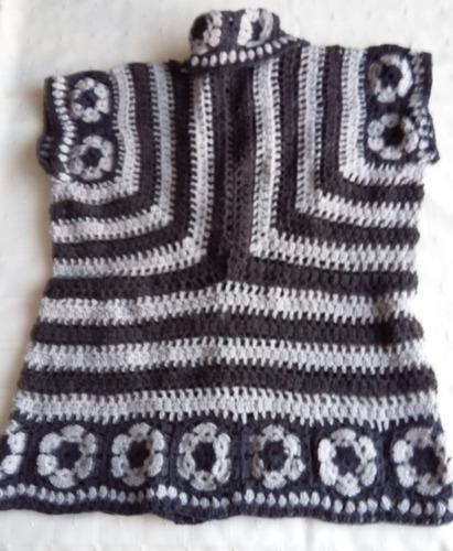 chaleco  tejido al crochet talle 50