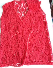 592560ef1 Chaleco Tejido Al Crochet Talle 50