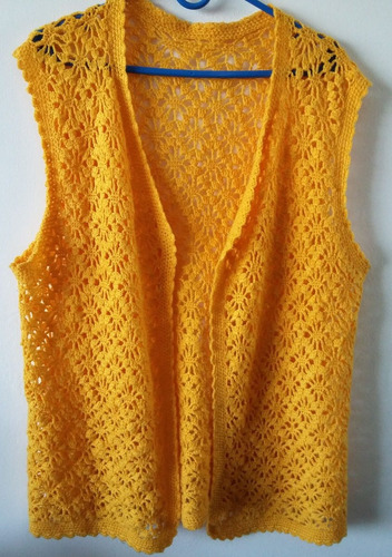 chaleco  tejido al crochet talle 52