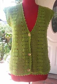 3a98d7f1d Chaleco Tejido Crochet Artesanal Nuevo