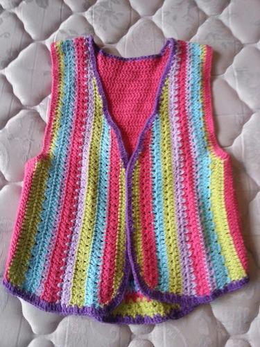chaleco tejido de hilo crochet nuevo talle m