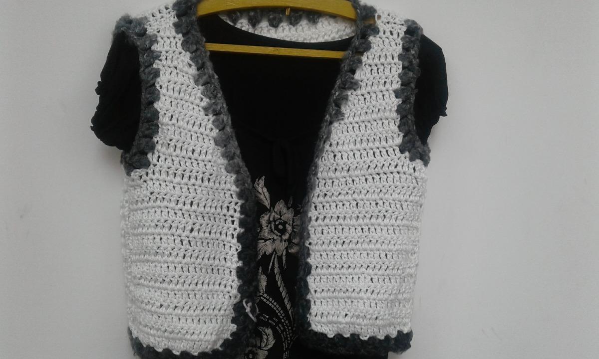 chaleco tejido en lana a crochet. Cargando zoom. 4753f4bbe5a8