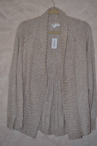 chaleco tejido mujer en color arena, importado usa