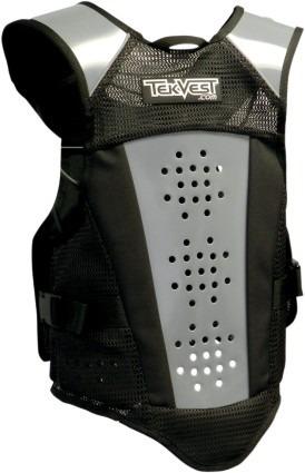 chaleco tekvest crossover mens de protección vest negro md