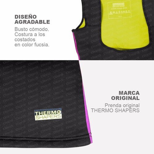 chaleco thermo shapers reduce medidas delivery s, m, l, xl