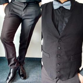 Chaleco Traje Saquito Y Pantalon De Vestir Para Hombre