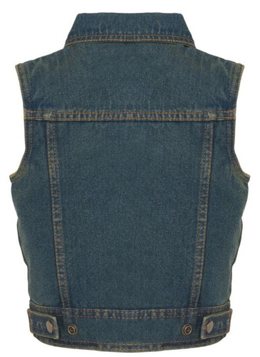 chaleco vaquero milwaukee cuero niños cuello camisa azul 2xl