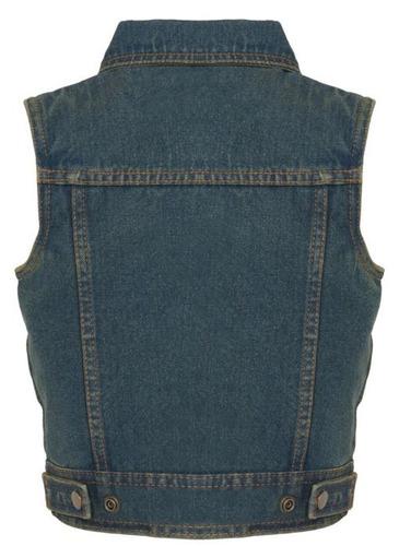 chaleco vaquero milwaukee cuero niños cuello camisa azul 3xl
