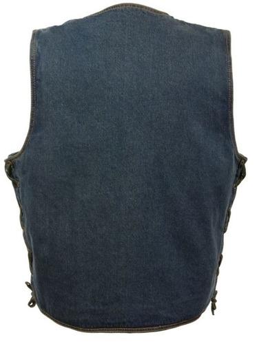 chaleco vaquero milwaukee hombre broche clásico azul 2xl