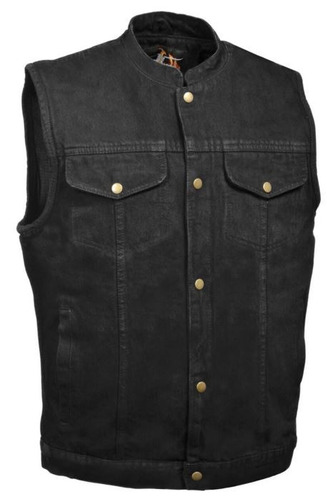 chaleco vaquero milwaukee hombre c/botón cuello camisa 7xl