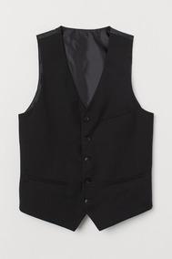 Chaleco Vestir Hombre Clásico Negro Traje Fiesta Egresado