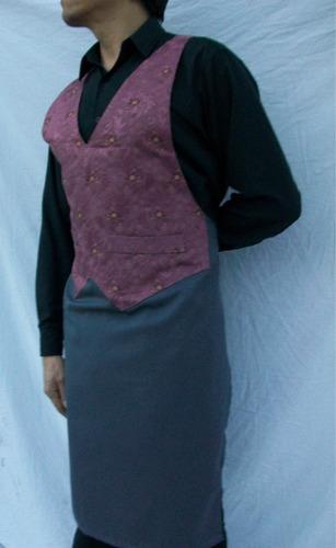 chalecodelantal mozo de diseño, tela de tapicería