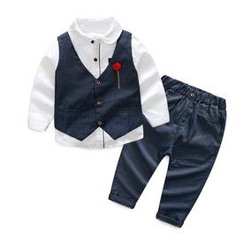 a2b589a1807 Ropa Niños Traje 3 Pz Chaleco Camisa Pantalon Elegante