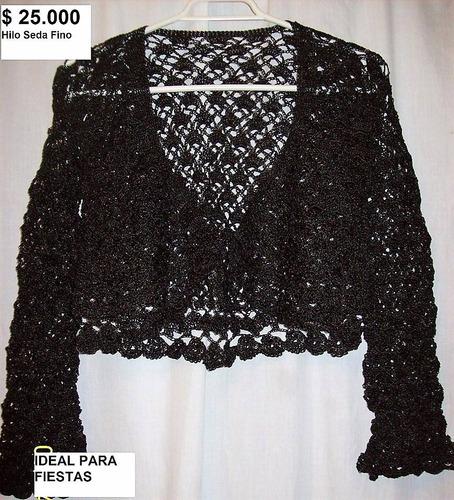 chalecos a crochet y palillo exclusivos hechos a mano, hilo