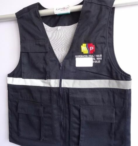 chalecos con/sin reflectivo chompas uniformes varios modelos