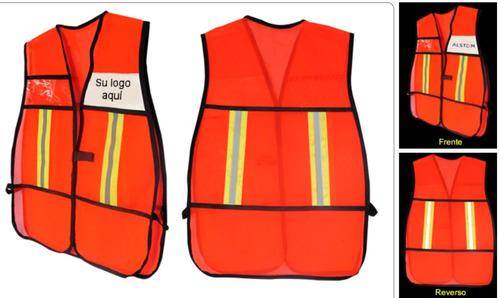 chalecos de seguridad reflejante malla diferentes colores