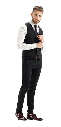 chalecos hombre de vestir entallados slim fit import