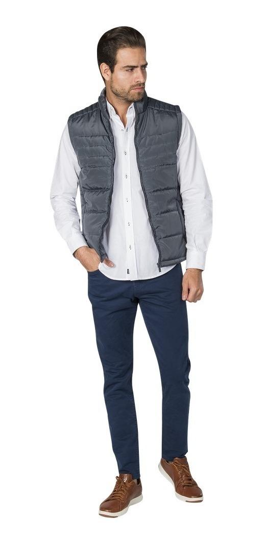 Chalecos Hombre Vestir Casual Gris Slim Moda H85103