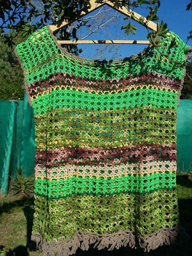 chalecos o buzos artesanales de hilo,manga corta,en crochet