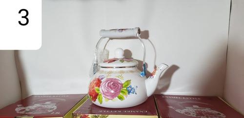 chaleira 2,5l de rosas decorada esmaltada top
