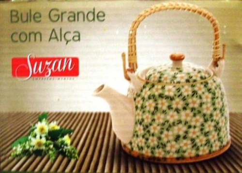 chaleira ceramica com alca movel bl