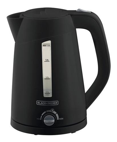 chaleira elétrica 2l preta 1850w black+decker 220v - k2200