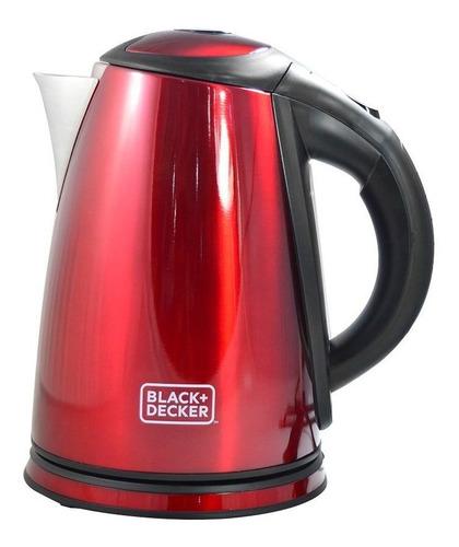 chaleira eletrica vermelha black + decker 1,8 litros kxv