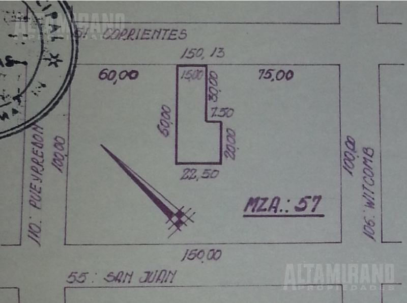 chalet 5 amb. sobre lote 900 m2. céntrico!