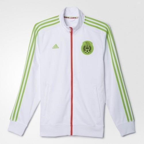 0bdf615ba3a72 Chamarra adidas Seleccion Mexicana Blanca Hombre -   1