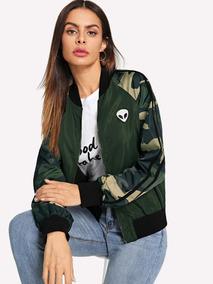 2f237684c Chamarra Verde Militar Mujer De Moda en Mercado Libre México