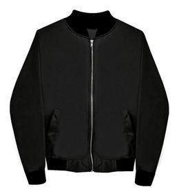 comprar auténtico gran colección calidad estable Chamarra Bomber Jacket Con Cierre Negra Envío Gratis Hombre