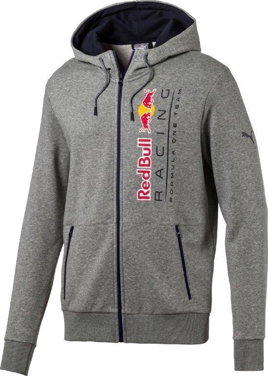 b7c03b6394 Chamarra Capucha Puma Red Bull Formula 1 Gris Hoodi Chaqueta ...
