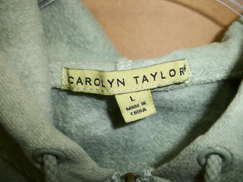 chamarra casual c/capucha carolyn taylor talla l-36 p/dama