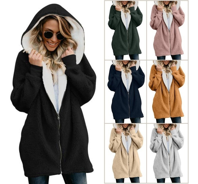 nueva estilos 7292f bf07f Chamarra Cazadora Abrigo Dama Mujer Gorro Borrego Invierno