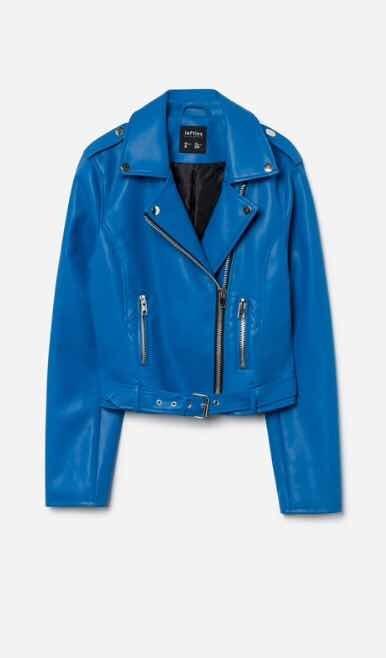 53f74c072808c Chamarra Cazadora Biker Azul -   449.00 en Mercado Libre