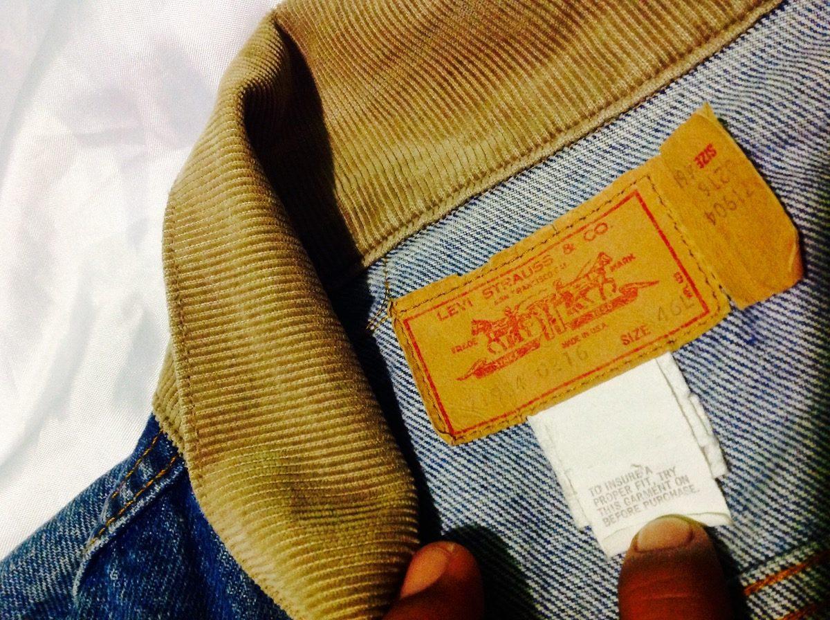 Chamarra Vintage De Naranja Levis Mezclilla 70s Etiqueta CQrWdexBo