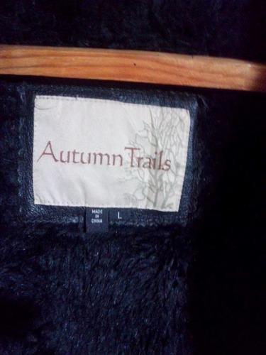 chamarra de piel autumn trails talla l