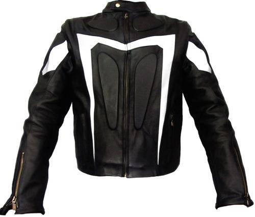 chamarra de piel para motociclista. mod. evolution.