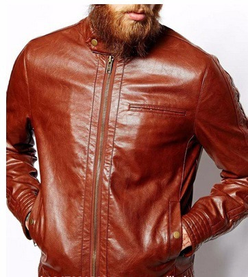 chamarra hipster cafe piel cuero fitted indie motociclista