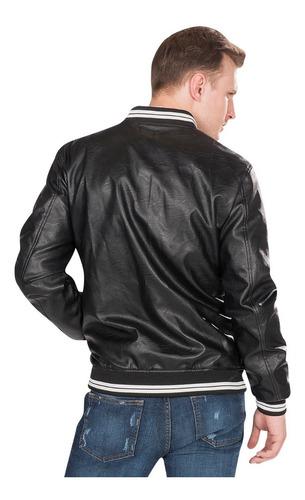 chamarra hombre piel sintentica cuero casual moda d85111